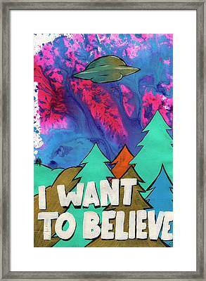 I Want To Believe Framed Print by Jake Johnson