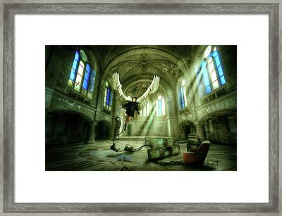 Framed Print featuring the digital art I Want To Brake Free by Nathan Wright