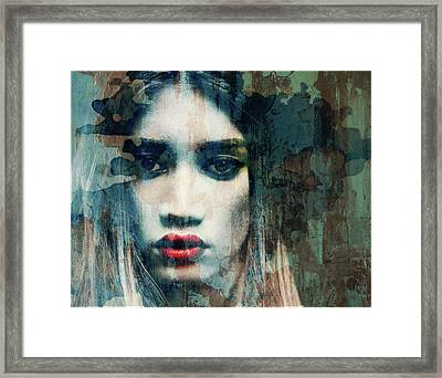 Framed Print featuring the mixed media I Want To Know What Love Is  by Paul Lovering