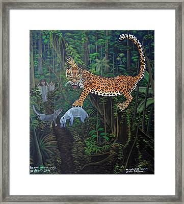I Want To Live Jaguar Framed Print