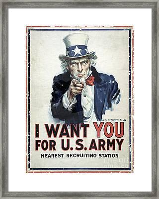 I Want You Poster  1917 Framed Print by Jon Neidert