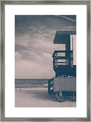Framed Print featuring the photograph I Was Checkin' On The Surfin' Scene by Yvette Van Teeffelen