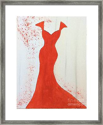 I Wear Red Framed Print by Nancy Pace