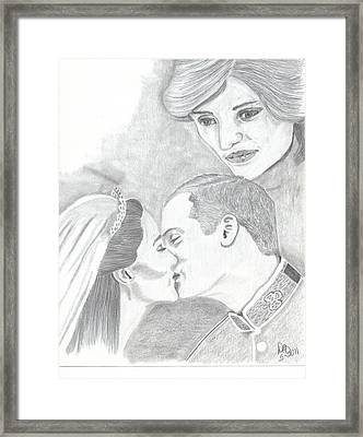 I Will Always Be There Framed Print by DebiJeen Pencils