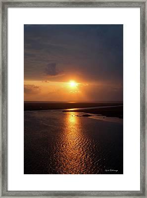 I Will Be Back Jekyll Island Sunset Art  Framed Print