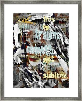 Mistaken Identity-i Will Be Silent No More Framed Print