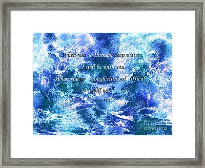 I Will Be With You Framed Print