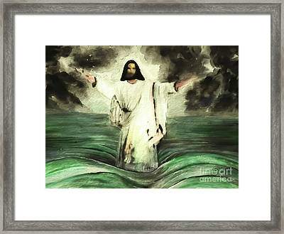 I Am Will Calm Your Sea Framed Print