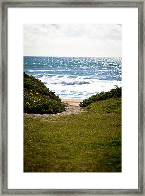 I Will Follow - Ocean Photography Framed Print