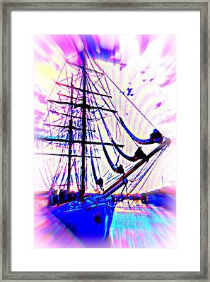 I Will Go Out There Alone And Look For The Big Fish  Framed Print by Hilde Widerberg