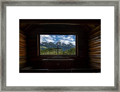 I Will Lift Up My Eyes Unto The Hills Framed Print