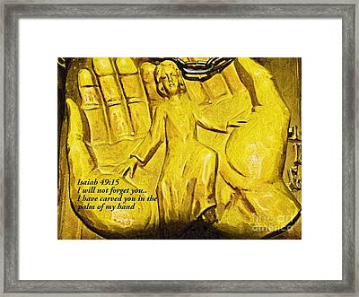I Will Not Forget You Framed Print by Deborah MacQuarrie-Selib