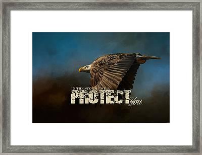 I Will Protect You - Bald Eagle Art Framed Print