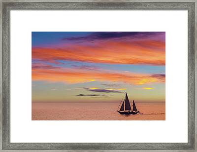 I Will Sail Away, And Take Your Heart With Me Framed Print