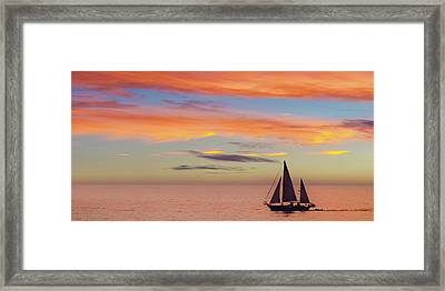 I Will Sail Away And Take Your Heart With Me Widescreen Framed Print