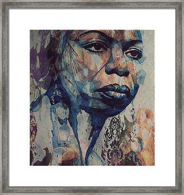Framed Print featuring the mixed media I Wish I Knew How It Would Be  Feel To Be Free by Paul Lovering