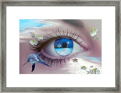 I Witness Testigo Framed Print by Angel Ortiz