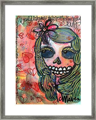 I Would Like You To Love Me Framed Print by Laurie Maves ART