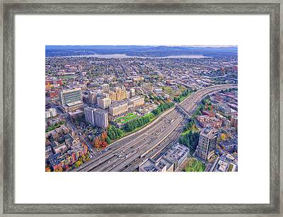 I5 Seattle Aerial View Framed Print