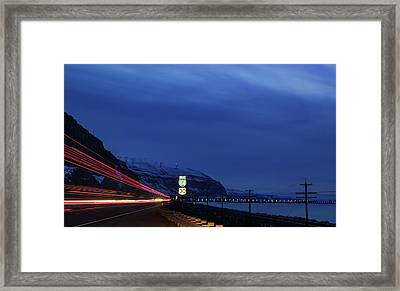 Framed Print featuring the photograph I84 by Cat Connor