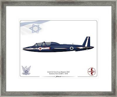 Iaf Aerobatic Team Fouga Magister Framed Print