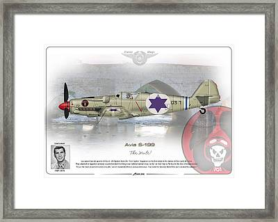Framed Print featuring the drawing Iaf Avia S-199 by Amos Dor
