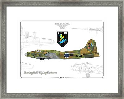 Iaf B-17 Flying Fortress Framed Print