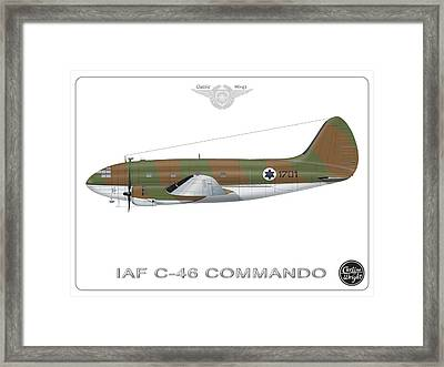 Iaf C-46 Commando Framed Print