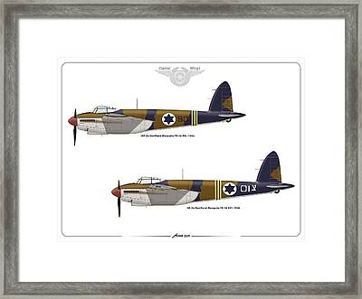 Framed Print featuring the digital art Iaf Mosquito 1 by Amos Dor
