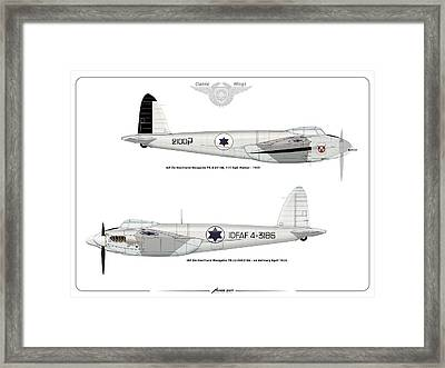 Framed Print featuring the digital art Iaf Mosquito II by Amos Dor