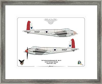Framed Print featuring the digital art Iaf Mosquito IIi by Amos Dor