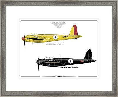 Framed Print featuring the digital art Iaf Mosquito Iv by Amos Dor