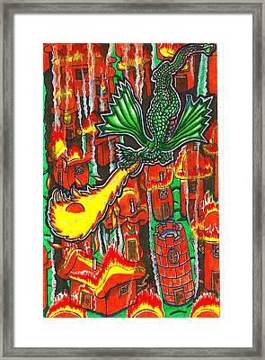 Iammyaza Attacks Tamarin Framed Print by Al Goldfarb