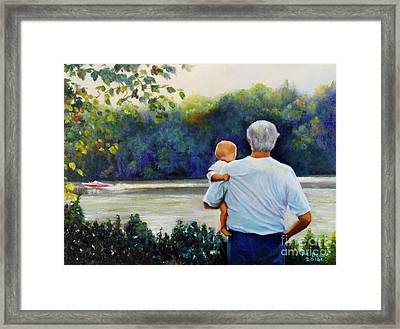 Ian And His Daddy One Sunday Afternoon Framed Print by Marlene Book
