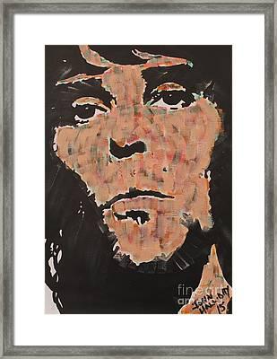 Ian Brown Stone Roses Framed Print by John Halliday