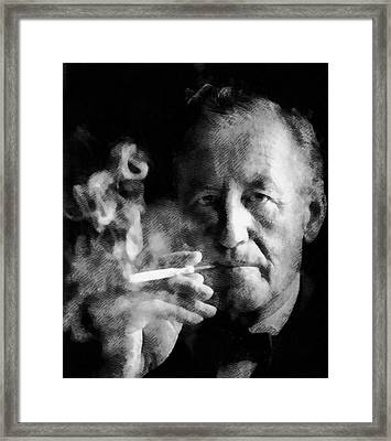 Ian Fleming Author Framed Print by John Springfield