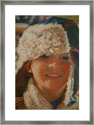 Ian Portrait Framed Print by Leonor Thornton