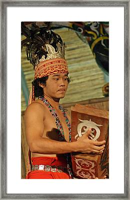 Iban Ngajat Dance Framed Print by Ali Mohamad