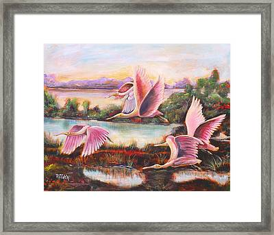 Framed Print featuring the painting Scarlet Ibis by Patricia Piffath