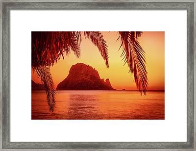 Ibiza Sunset Framed Print by Iryna Goodall