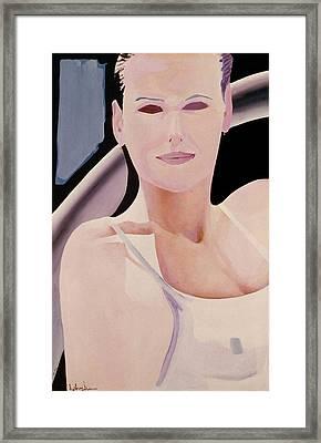 Ibiza Woman Number One Framed Print by Geoff Greene