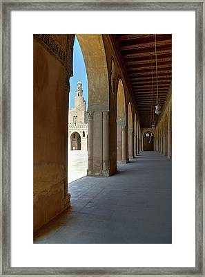 Ibn Tulun Great Mosque Framed Print by Nigel Fletcher-Jones