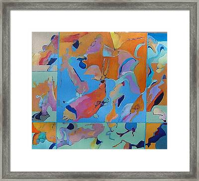 Framed Print featuring the painting Icarus Descent by Bernard Goodman