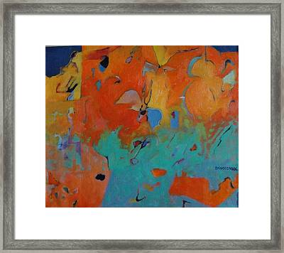 Icarus Descent II Framed Print by Bernard Goodman