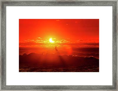 Icarus Flip Framed Print by Sean Davey