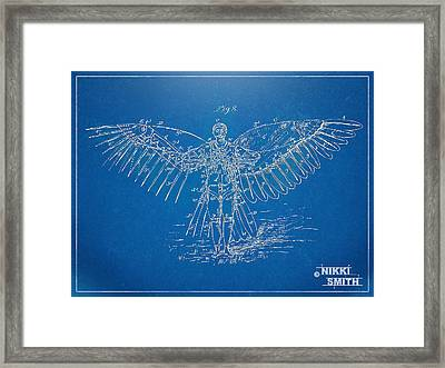 Icarus Flying Machine Patent Artwork Framed Print by Nikki Marie Smith