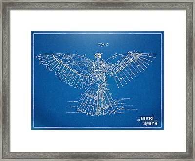 Icarus Human Flight Patent Artwork Framed Print by Nikki Marie Smith
