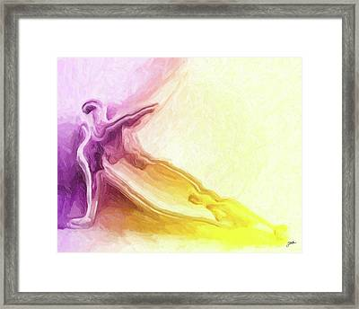 Icarus Near The Sun Framed Print
