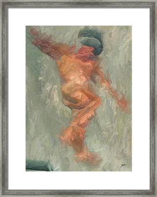 Icarus Reflection In Water. Framed Print