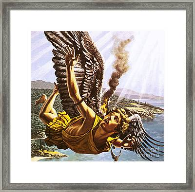Icarus Framed Print by Roger Payne